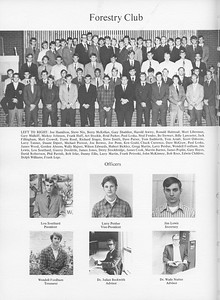 The Cypress Knee, 1971, Forestry Club, (Officers), Lou Southard, Larry Perdue, Jim Lewis, Wendell Fordham, Juliam Beckwith, Wade Nutter, pg. 40