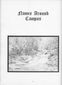 "The Cypress Knee, 1971, ""Names Around Campus"", ph. 36"