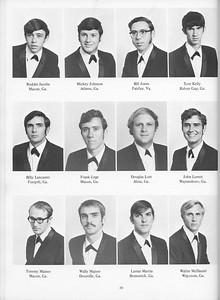 The Cypress Knee, 1971, Seniors, Ruddie Jacobs, Mickey Johnson, Bill Jones, Tom Kelly, Billy Lancaster, Frank Lege, Douglas Lott, John Lovett, Tommy Mainor, Wally Majure, Lamar Martin, Walter McDaniel, pg. 20