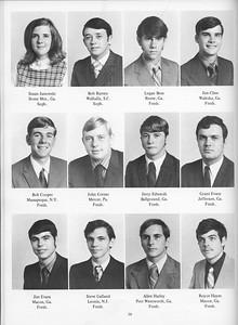 The Cypress Knee, 1971, Underclassmen, Susan Janowski, Bob Ramey, Logan Boss, Jim Cline, Bob Cooper, John Corner, Jerry Edwards, Grant Evans, Jim Evans, Steve Galland, Allen Harley, Royce Hayes, pg. 30
