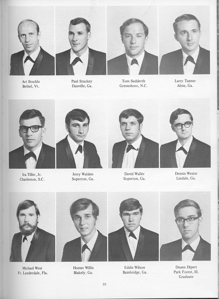The Cypress Knee, 1971, Seniors, Art Stockle, Paul Stuckey, Tom Sudderth, Larry Tanner, Ira Tiller Jr., Jerry Walden, David Waller, Dennis Wester, Michael West, Homer Willis, Eddie Wilson, Duane Dipert, pg. 23