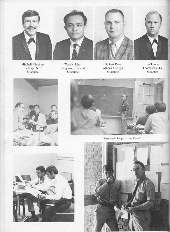 The Cypress Knee, 1971, Graduate Students, Mitchell Flinchum, Wara Kulchol, Rovert Rees, Jim Thomas, pg. 24