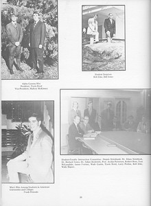 The Cypress Knee, 1971, Travis Reed (President Alpha Gamma Rho), Mallory McKinney (Vice President Alpha Gamma Rho), Bob Izlar, Bill Jones, Frank Petroski, Student-Faculty Interaction Committee, pg. 38