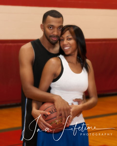 cypress engagement photos; love and basketball; katy engagement photography