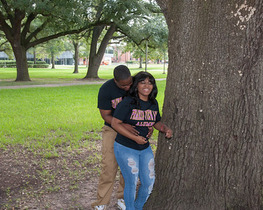 Prairie View Panther engagement photos