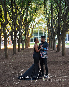 Discovery Green and Galleria Waterwall Engagement photos