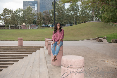 Downtown Houston Senior portraits