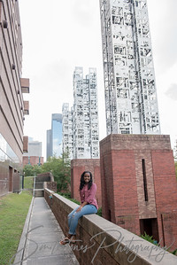 Downtown Houston Senior portraits