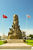 Historical monument of the people in Famagusta, Cyprus.