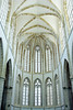 Gothic interior architecture of the Lala Mustafa Pasha Mosque, formerly the St. Nicholas Cathedral in Famagusta, Cyprus.