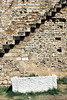 Venetian walls and staircase near the port in Famagusta, Cyprus.