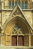 The front entrance doors to The Lala Mustafa Pasha Mosque formerly the St. Nicholas Cathedral in Famagusta, Cyprus.