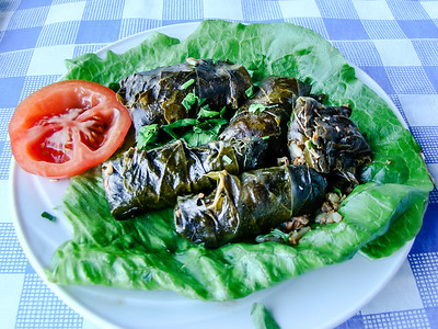 Koupepia (dolmades) - stuffed vine leaves