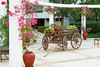 An old decorative wagon at the Jasmine Court Hotel in Girne, Cyprus.