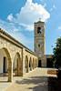The St. Barnabas Monastery courtyard near Salamis, Cyprus.