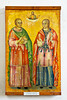 Saints depicted in artwork at the St. Barnabas Monastery Museum, Cyprus.