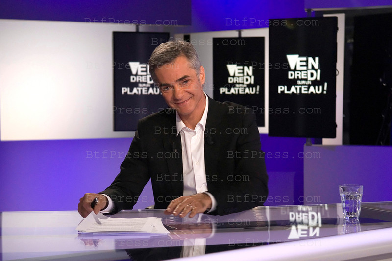 Cyril Viguier during the preparation of his new show,Vendredi sur un Plateau on France 3, with famous guest like former French President Valery Giscard d'Estaing,Astronaut Buzz Aldrin,the new show will begin in september 2011.