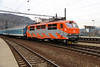 151 019 (91 54 7151 019-7 CZ CD) at Usti nad Labem hlavni nadrazi on 13th February 2014 working R611