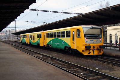 814 216 (95 54 5814 216-8 CZ CD) at Prague Vrsovice on 12th February 2014