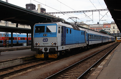 162 013 (91 54 7162 013-7 CZ-CD) at Prague Masarykovo Nadrazi on 27th June 2016  (1)