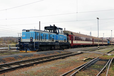 714 218 (92 54 2714 218-5 CZ-CD) at Prague Bubny Vltavska on 31st October 2017 (4)