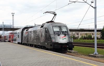 3) MAV, 470 001 (91 55 0470 001-3 H-START) at Ceske Velenice (Czech Republic) on 4th July 2017 working SP2127 1705 Ceske Velenice to Vienna FJB