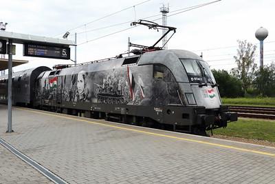 2) MAV, 470 001 (91 55 0470 001-3 H-START) at Ceske Velenice (Czech Republic) on 4th July 2017 working SP2127 1705 Ceske Velenice to Vienna FJB