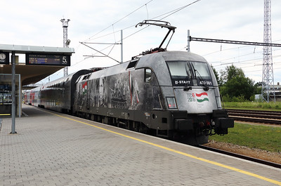1) MAV, 470 001 (91 55 0470 001-3 H-START) at Ceske Velenice (Czech Republic) on 4th July 2017 working SP2127 1705 Ceske Velenice to Vienna FJB