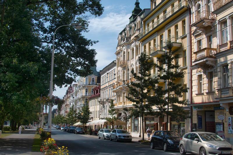 Main Street, Mariánské Lázně; Czech Republic / Hlavní třída, Mariánské Lázně Czech Republic