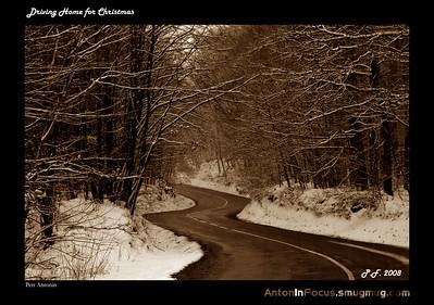 Winter landscapes around Brno