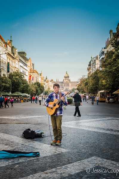 Musician in New Town