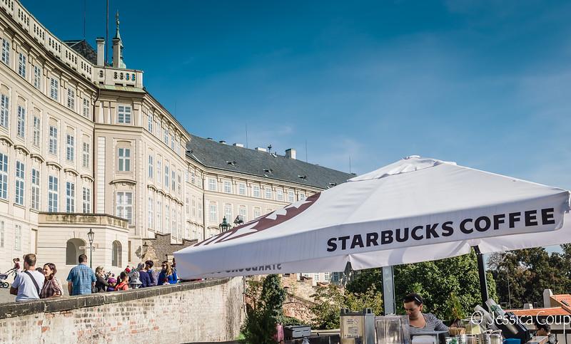 Prague President Must be a Starbucks Fan