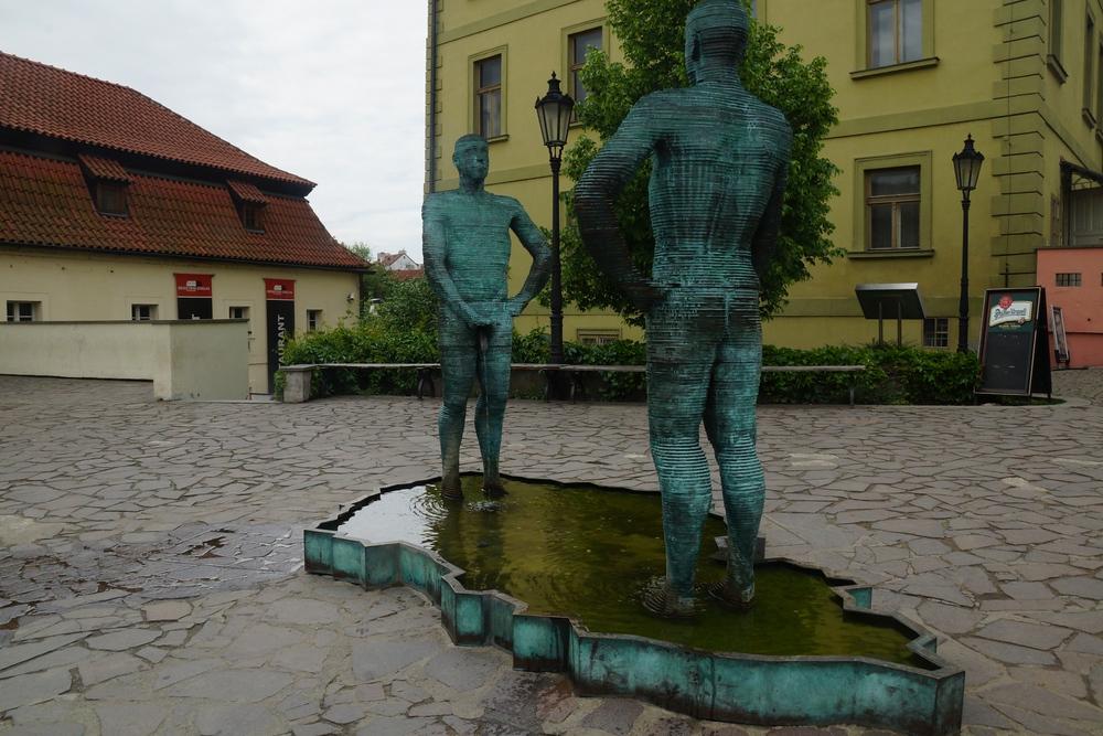 Kafka Museum sculpture 'The Piss'