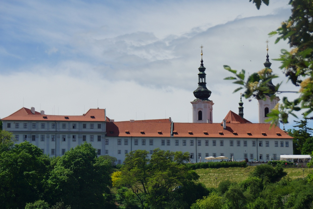 Views of the Strahov Monastery from a distance
