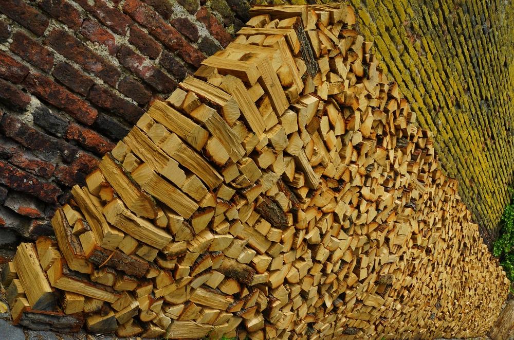Novy Svet neighborhood firewood stacked