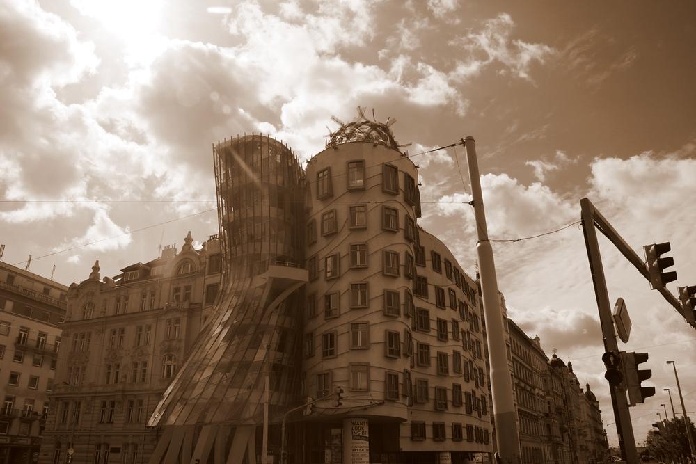 Dancing House building in Prague