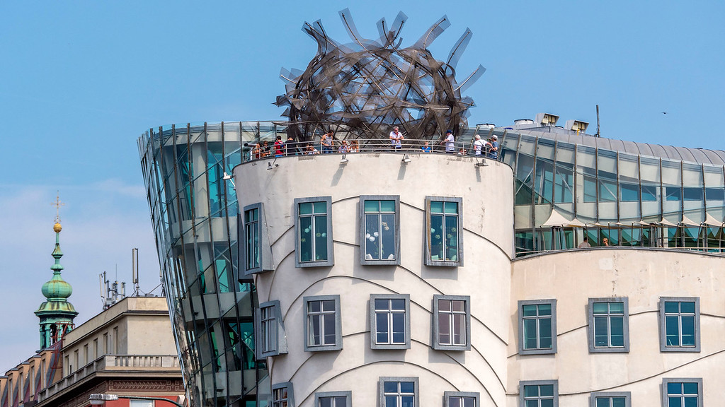 The terrace of the Dancing House, Prague - 3 days in Prague