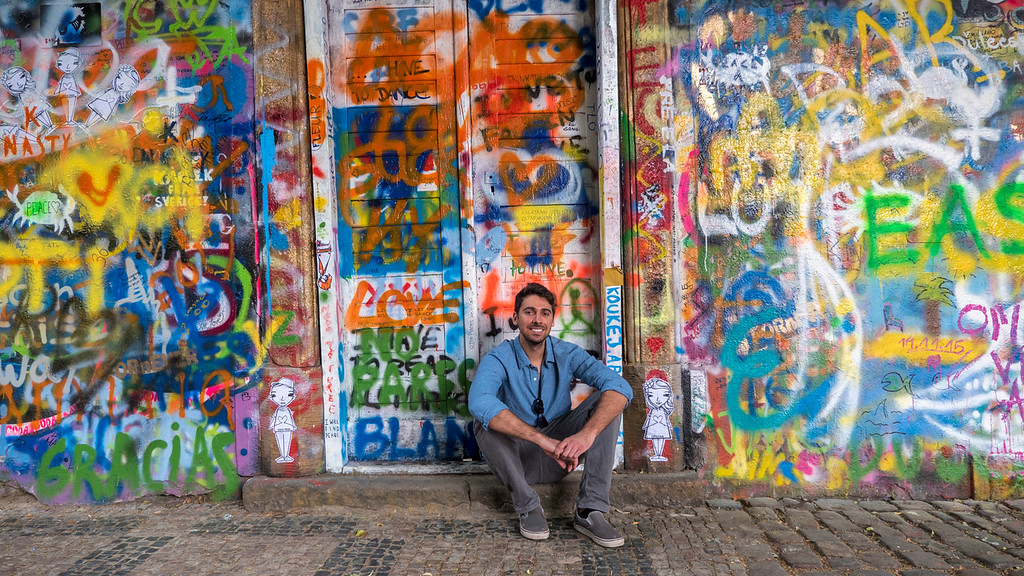 John Lennon Wall in Prague - Prague graffiti wall