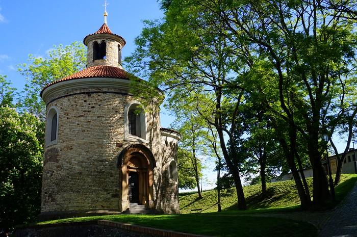 The Rotunda of St. Martin in Prague.