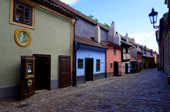 Tiny cottages on the Golden Lane in Prague