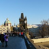 Christmas tourists on the Charles Bridge