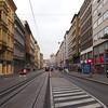 A busy Prague street