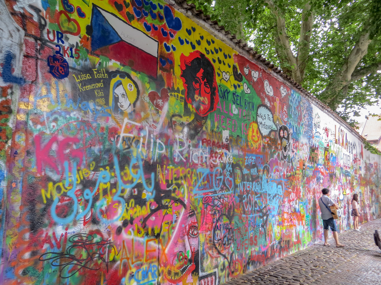 don't miss the lennon wall on your solo travel in prague adventures