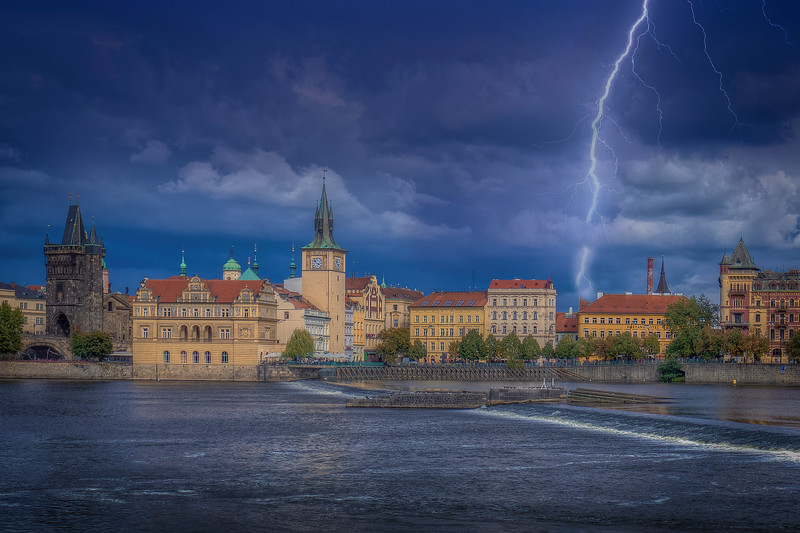 Lightning, Vltava River Prague