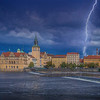 Lightning, Vltava River Prague