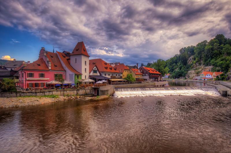 Restaurant Along Vltava River, Chesky Krumlov
