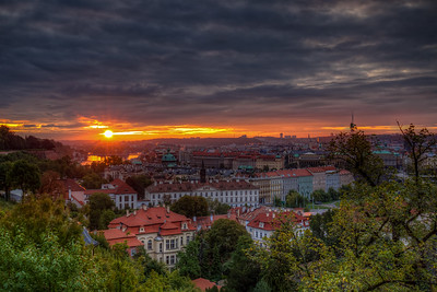 Sunrise Over Old Town From Prague Castle