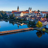 Telc Castle Aerial Sunrise
