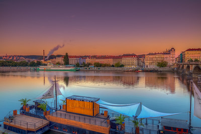 Captain Morgan Party Boat, Vtlava River In Prague