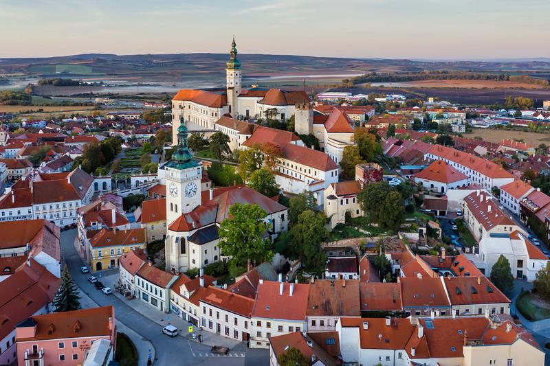 Mikulov Castle in Mikulov, South Moravia, Czech Republic